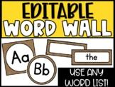 Editable Burlap Word Wall Headers and Word Cards - Burlap Classroom Theme