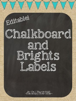 Editable Burlap and Chalkboard Labels
