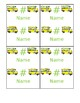 Editable Color Coded Bus Dismissal Tags, Table Signs, and Master List