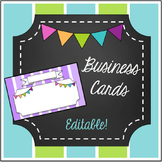 Business Cards- Editable