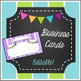Business Cards- Editable