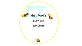 Editable Busy Bee Job Chart Sign