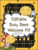 Editable Busy Bees Welcome Kit II A New Set