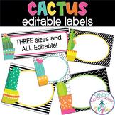 Cactus Classroom Theme Editable Labels