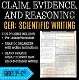CER Graphic Organizer With Scientific Writing Pre-Lesson and Peer Review Sheets!