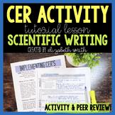 CER Graphic Organizer With Scientific Writing Pre-Lesson a
