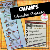 Editable CHAMPS Behavior Strategy Posters