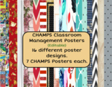 Editable CHAMPS Classroom Posters (Marvel, Harry Potter, Farmhouse, and more!