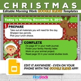 Editable CHRISTMAS Morning Work GOOGLE SLIDES Templates