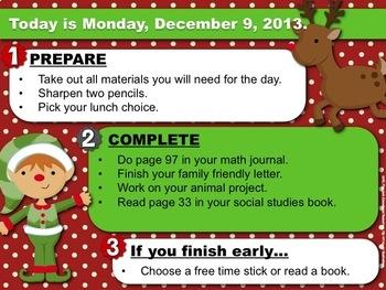 Editable CHRISTMAS Themed Morning Work PowerPoint Templates