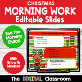 Editable CHRISTMAS Themed Morning Work PowerPoint Templates