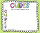Editable CUBES Math Strategy Poster Set