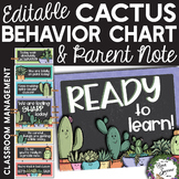 Editable Cactus Behavior Clip Chart with Daily Parent Note