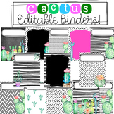 Cactus Binder Covers
