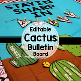 Editable Cactus Bulletin Board Display | Back to School Bu