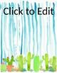 Editable Cactus Classroom Posters