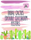 Editable Cactus Classroom Posters
