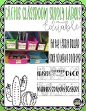 Editable Cactus Classroom Supply Labels (fit Target adhesi
