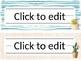 Editable Cactus Desk Name Plates