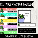 Editable Cactus Labels: Includes Target Dollar Spot Labels!