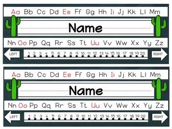 Editable Cactus Nameplates
