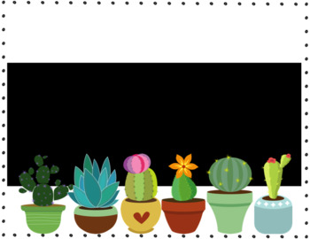 Editable Cactus Posters!