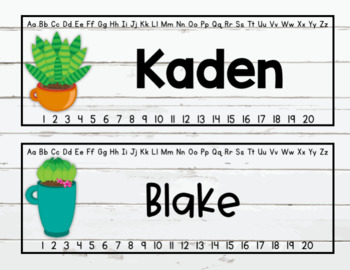 Editable Cactus Shiplap Name tags fits Target sleeves
