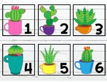 Editable Cactus Shiplap Number Labels
