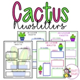 Editable Cactus Themed Newsletter Templates