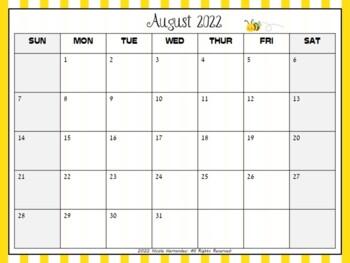 Editable Calendars 2018-2019 {BEE THEME}