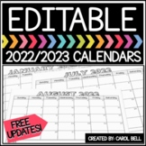 Editable Calendar 2020-2021 Distance Learning