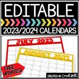 EDITABLE CALENDARS 2017-2018