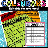 Monthly Calendar 2018-2019 editable