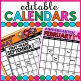 Calendar 2019 editable