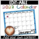 Editable Calendar 2018-2019