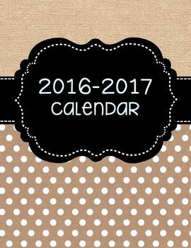 Editable Calendar {Burlap}