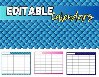 Editable Calendar