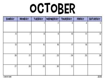 Editable Calendar // Lilly Pulitzer {August 2017 - 2020}