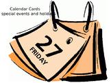 Editable Calendar Cards