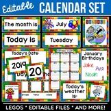 Editable Calendar Cards | Building Bricks | Legos Inspired Theme