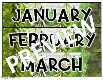 Editable Calendar (Forest and Shiplap)