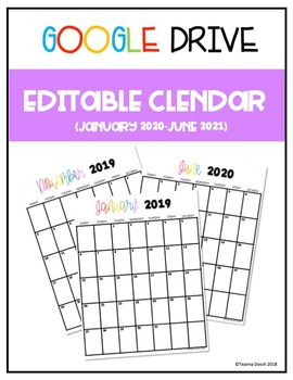 Editable Calendar- Google Drive