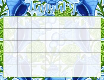 Editable Calendar ( Lilly Inspired )