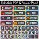 Editable Calendar Set, Polka Dot Chalkboard Classroom Decor