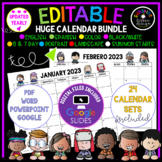 EDITABLE Calendar Sets 2021-2022 Calendars | Digital/Print