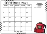 2018-2019 Calendar EDITABLE