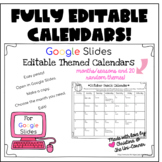 Editable Calendar Templates for Google Slides