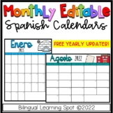 Editable Calendar Templates in Spanish - Color & B&W- LIFE