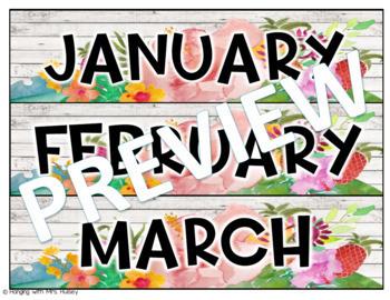 Editable Calendar (Tropical and Shiplap)