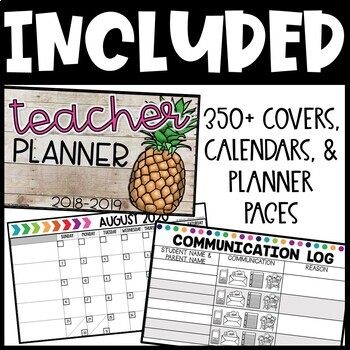 Editable Calendar and Teacher Planner - FREE UPDATES EACH YEAR!! Teacher Binder